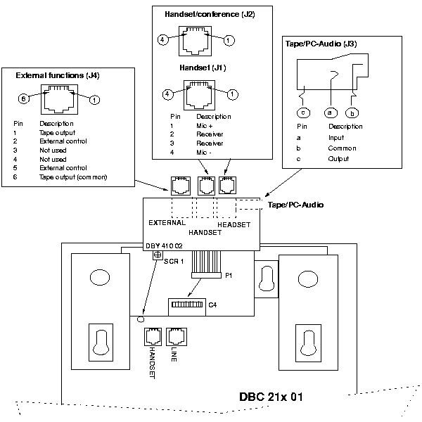 Ericsson DBY410 Headset Adaptor DBY410-021 2