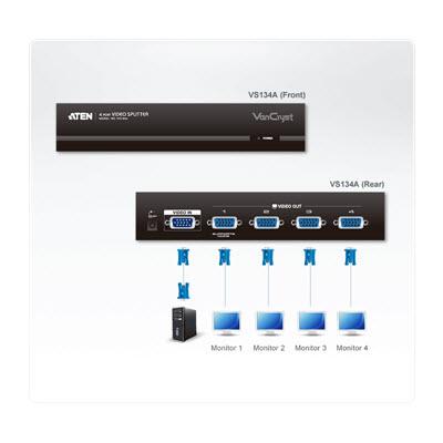 ATEN VS134A 4-Port VGA Video Splitter 2