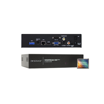 DV Signage ViewStream 500 VS-500 Full-HD media-player for digital signage