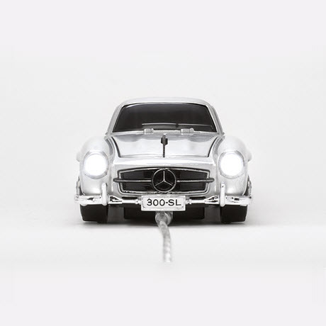Click Car MERCEDES-BENZ 300 SL silver Wired Optical Mouse 3