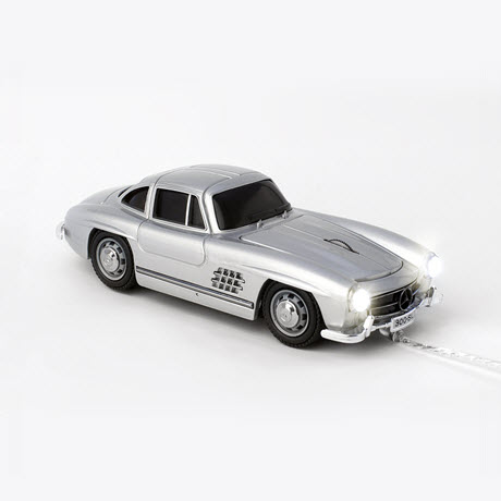Click Car MERCEDES-BENZ 300 SL silver Wired Optical Mouse